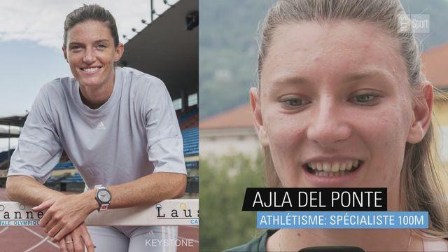 Athlétisme: Ajla Del Ponte rend hommage à Lea Sprunger [RTS]