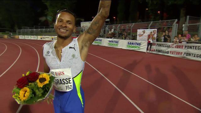 Bellinzone, 100m messieurs: A. De Grasse (CAN) s'impose devant K. Fred (USA) et J. Gatlin (USA) [RTS]