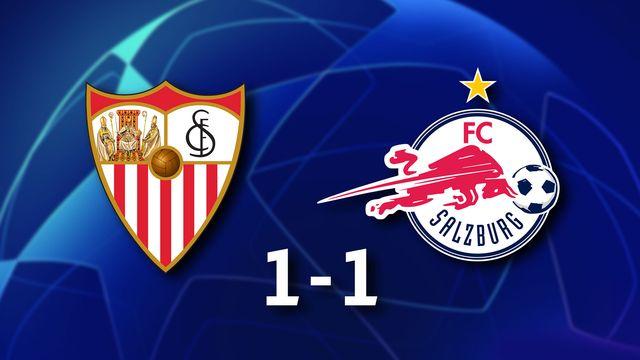 1ère journée Gr.G, Séville FC - RB Salzburg (1-1): résumé de la rencontre