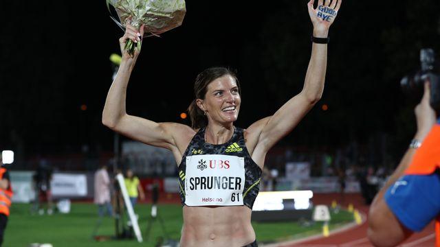 Lea Sprunger a disputé la dernière course de sa carrière à Bellinzone. [Marusca Rezzonico]