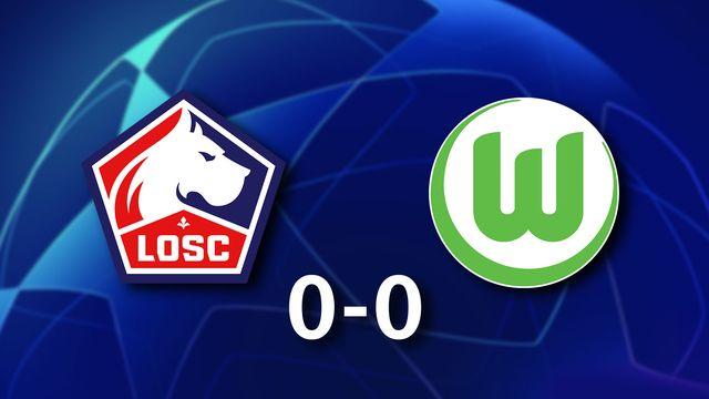 1ère journée Gr.G, Lille - Wolfsburg (0-0): les Lillois dominent nettement les Allemands dans cette rencontre mais ils ne marquent pas