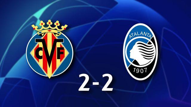 1ère journée Gr.F, Villarreal - Atalanta (2-2): résumé de la rencontre