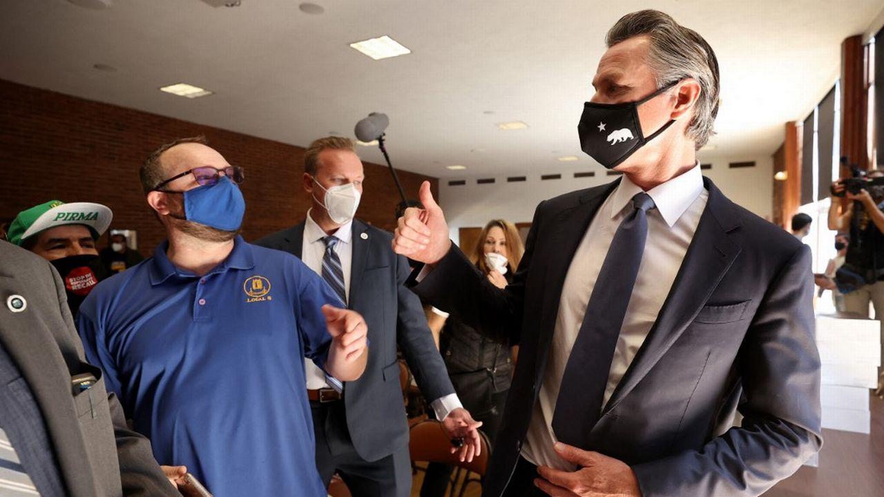 Le sort de Gavin Newsom était suspendu mardi au vote des Californiens. [Justin Sullivan - AFP]