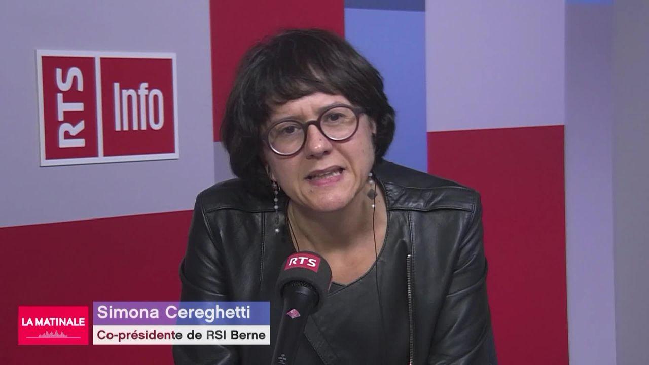 """L'invitée de La Matinale (vidéo) - Simona Cereghetti, journaliste et coautrice du livre """"21 portraits de femmes politiques suisses"""" [RTS]"""