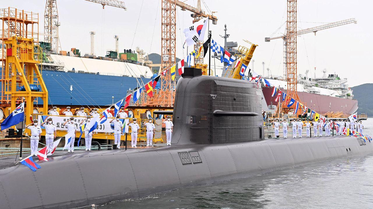 Le sous-marin sud-coréen Ahn Chang-ho. [Handout / South Korean Defence Ministry - AFP]