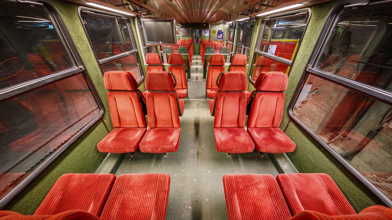 Le train de la Jungfraujoch, vidé de ses passagers, en avril 2020 [VALENTIN FLAURAUD - KEYSTONE]