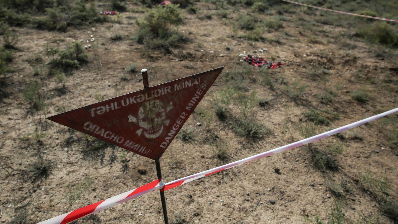 Le nombre de victimes d'armes à sous-munitions a encore augmenté l'année dernière, à près de 370. Le Haut-Karabakh, où Azerbaïdjan et Arménie se sont affrontés, a déploré plus de 100 d'entre elles, selon un rapport publié mercredi à Genève. [ONUR COBAN  - ANADOLU AGENCY VIA AFP]