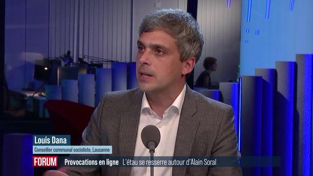 Une plainte pénale contre Alain Soral pourrait être déposée en Suisse: interview de Louis Dana [RTS]