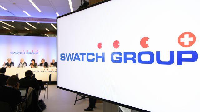 Une conférence de presse de Swatch Group en 2017. [Anthony Anex - Keystone ]