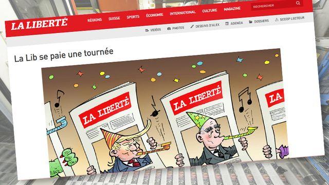 Capture d'écran du site de la Liberté. [www.laliberte.ch]