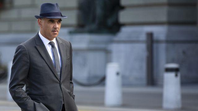 Le conseiller fédéral Alain Berset, le 17 septembre 2021 à Berne. [Peter Klaunzer - Keystone]