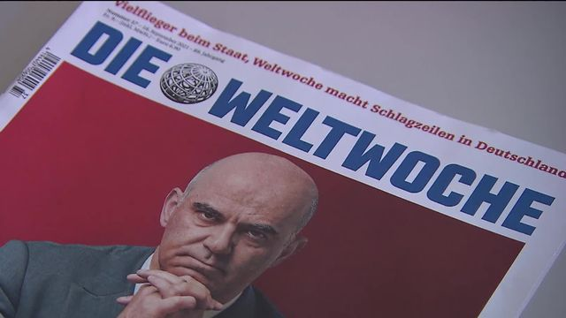 """Le magazine """"Weltwoche"""" critique le rôle du Secrétariat général d'Alain Berset lors de la tentative de chantage dont il a été victime en 2019 [RTS]"""