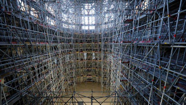 Les travaux de sécurisation de la cathédrale Notre-Dame de Paris sont terminés. [Thomas Samson - AFP]
