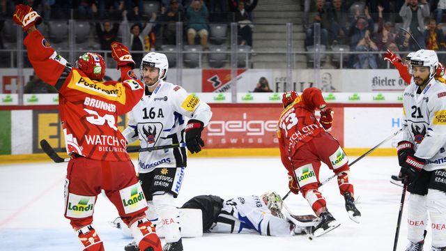 Bienne jouera contre le HC Davos ce samedi soir. [Laurent Gillieron]