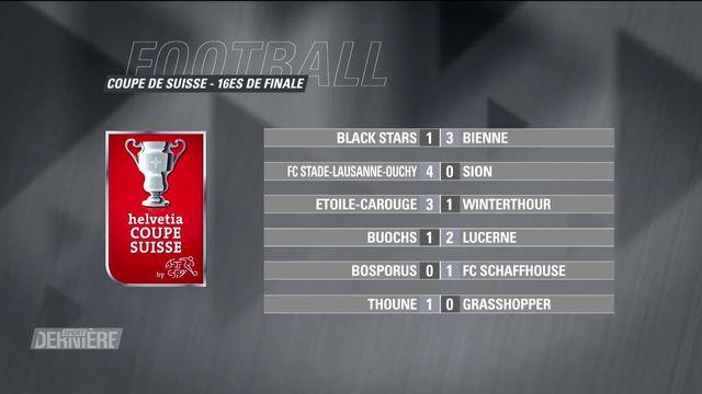 Football, Coupe de Suisse 1-16: Résultats [RTS]