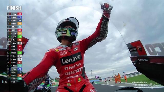 GP de Saint-Marin, MotoGP: victoire de Bagnaia (ITA) devant Quartararo (FRA) 2e [RTS]