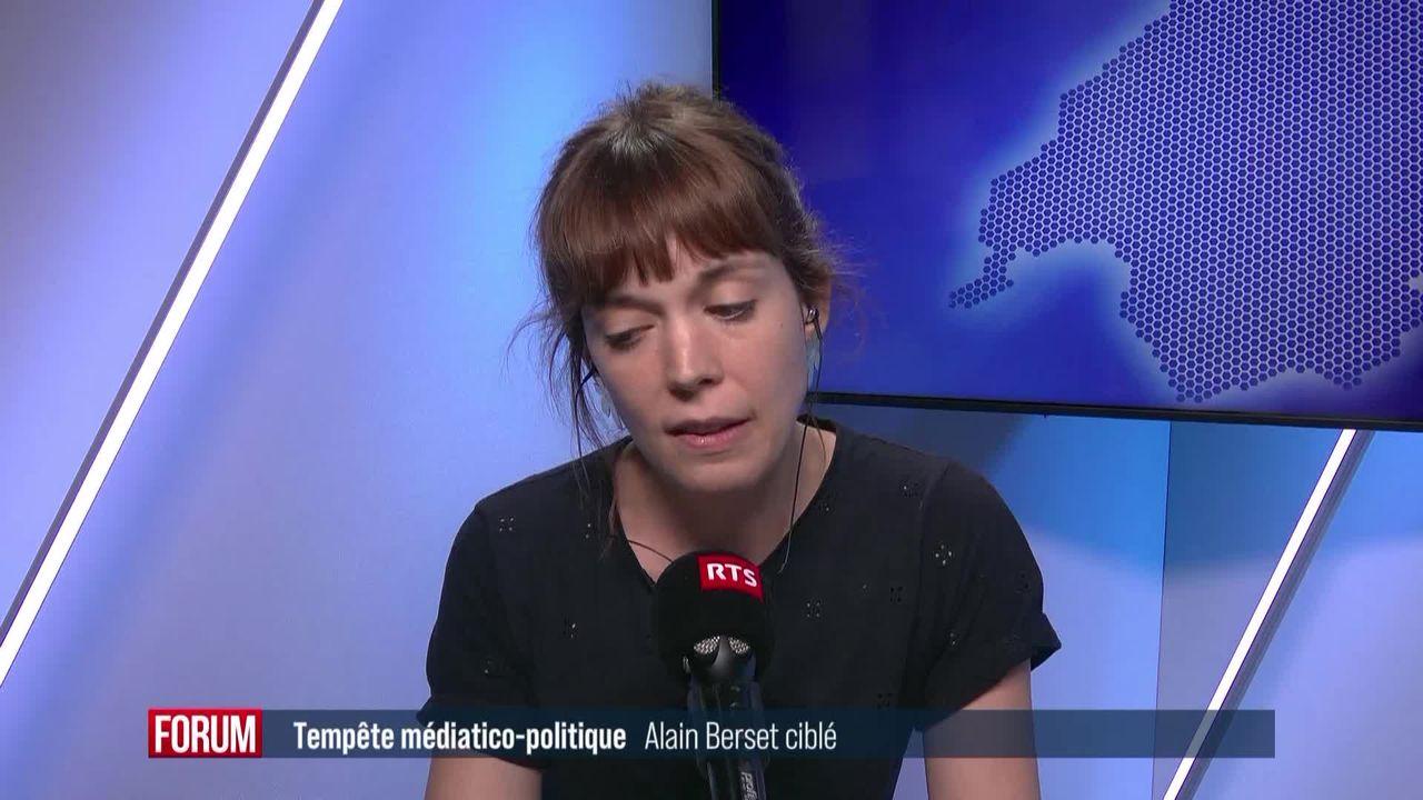 Alain Berset pas encore sorti de la tourmente médiatico-politique [RTS]