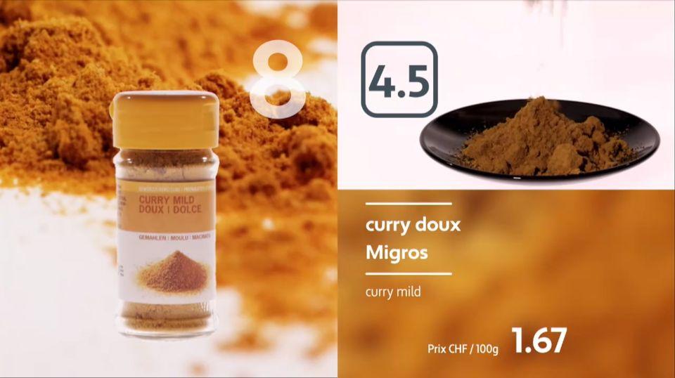 Dégustation de curry doux industriels. [RTS]