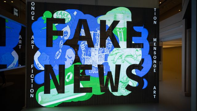 Quand fake news rime avec max de flouze. [Sandrine Marty / Hans Lucas - AFP]