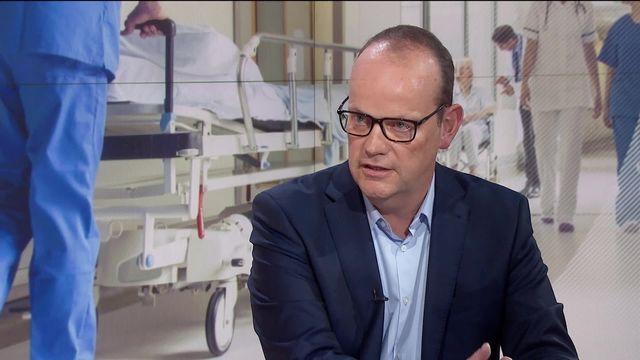 Interview de Thomas Boyer, directeur général du Groupe Mutuel. [RTS]