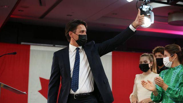 Justin Trudeau a remporté l'élection législative, sans toutefois obtenir de majorité. [DAVE CHAN / GETTY IMAGES NORTH AMERICA - AFP]