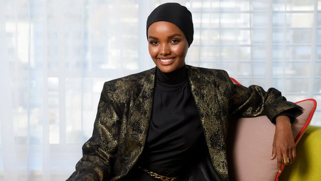 Halima Aden lors d'une fashion week à Sydney. Australie, le 16 mai 2019. [Dan Himbrechts - Keystone/EPA]