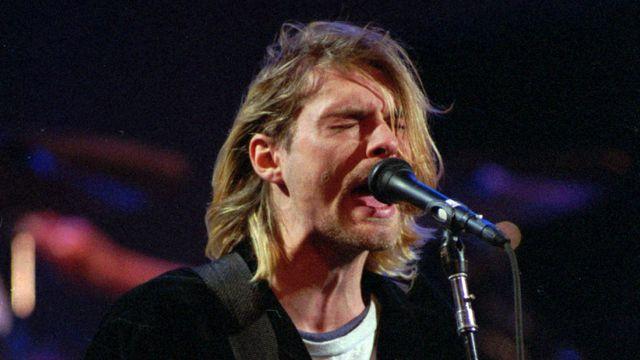Le légendaire Kurt Cobain, chanteur de Nirvana, s'est suicidé à l'âge de 27 ans en 1994. [AP Photo/Robert Sorbo]