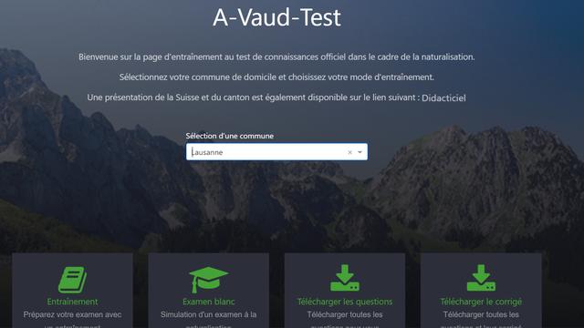 Vaud lance deux applications pour s'entraîner au test de naturalisation (capture d'écran). [Etat de Vaud]