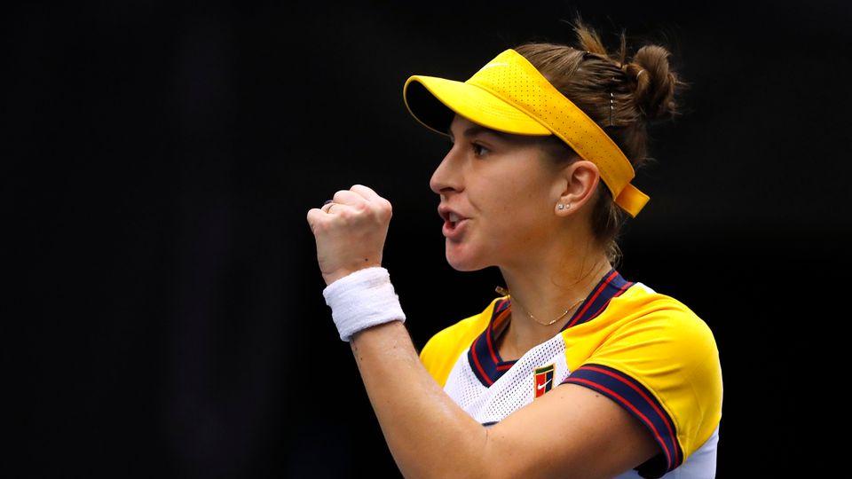 Belinda Bencic a réussi son entrée en lice à Ostrava face à Sara Sorribes Tormo. [David W Cerny - Reuters]