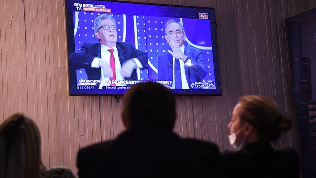 Un débat très suivi entre Jean-Luc Mélenchon et Eric Zemmour. [Bertrand Guay - afp]