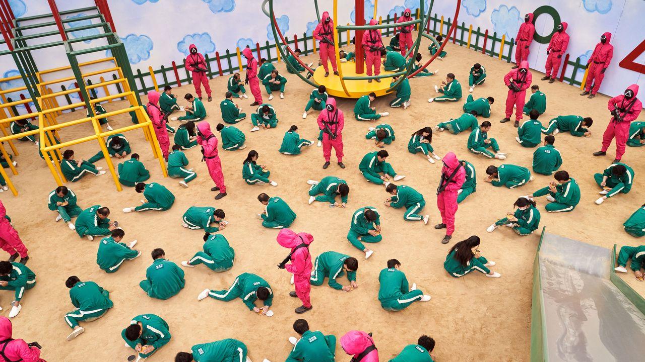 """Une scène de la série """"Squid Game"""". [Netflix]"""