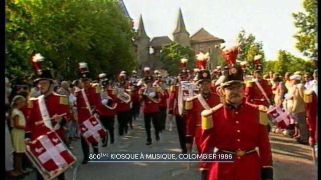 """L'émission de télévision """"Le kiosque à musiques"""", qui fait honneur à la musique populaire helvétique, fête son 50e anniversaire. Archive [RTS]"""