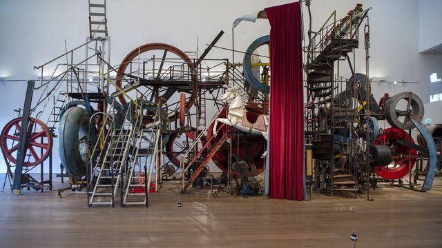 Le Musée Tinguely, à Bâle, a 25 ans. Pour marquer cet anniversaire, il organise une grande fête samedi et dimanche avec des expositions, des performances, des ateliers, des films, un programme culinaire, de la musique et un feu d'artifice. [GEORGIOS KEFALAS - KEYSTONE]