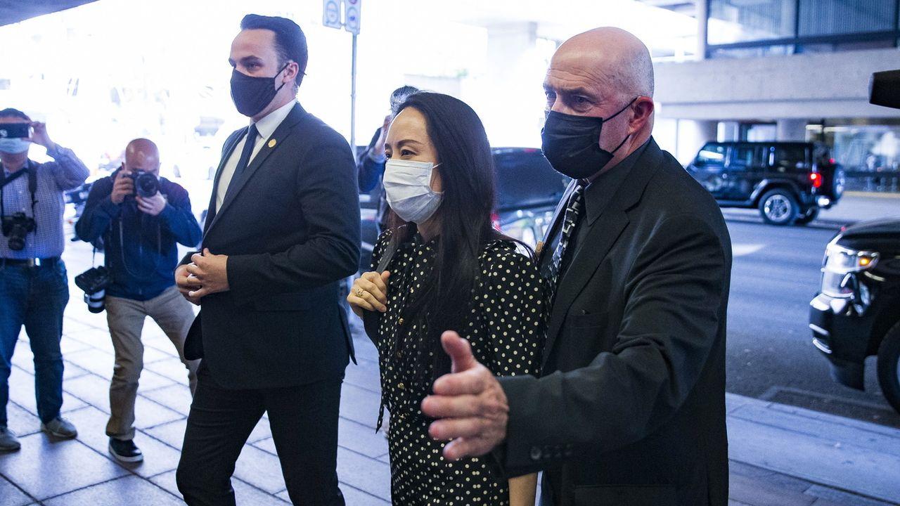 La directrice financière de Huawei a pu quitter le Canada pour la Chine. [Bob Frid - Keystone]