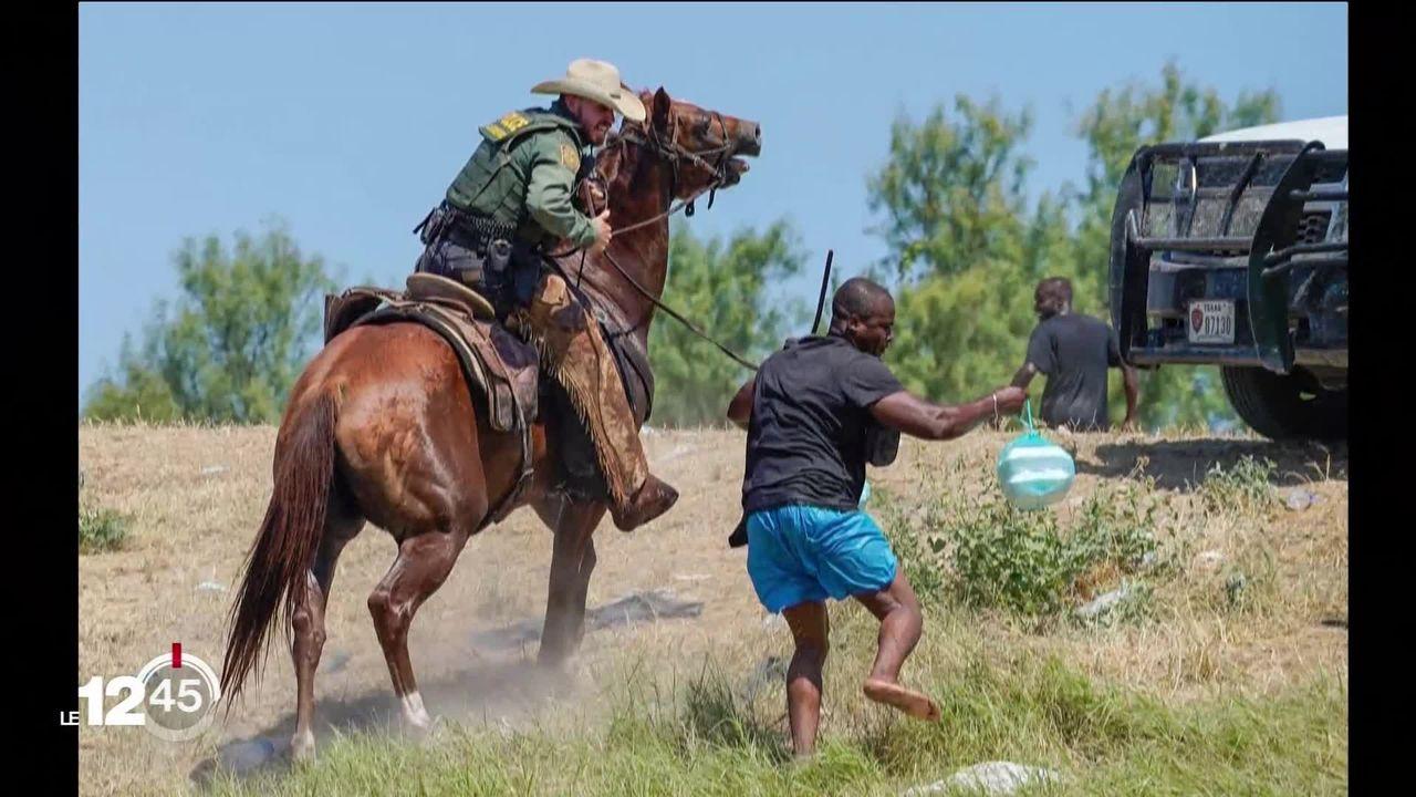 Parmi les milliers de migrants haïtiens massés la frontière Mexique-USA, certains ont pu entrer provisoirement aux Etats-Unis. [RTS]