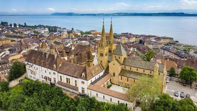 La collégiale protestante Notre-Dame de Neuchâtel. [Valentin Flauraud - Keystone]