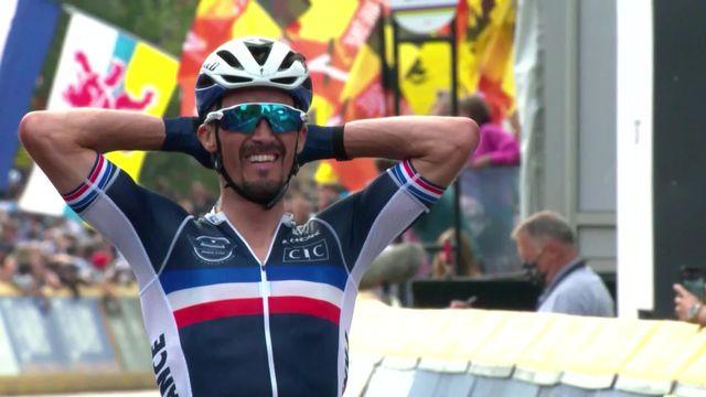 Louvain (BEL), course élite messieurs: Alaphilippe (FRA) remporte un deuxième titre mondial consécutif [RTS]