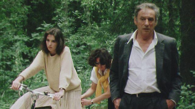 En tournage avec Yves Montand et Isabelle Adjani en 1981. [RTS]