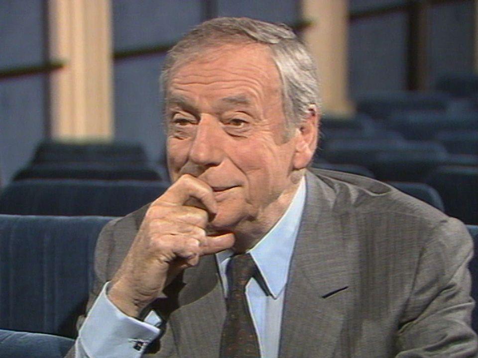 Le chanteur et comédien Yves Montand en 1986. [RTS]