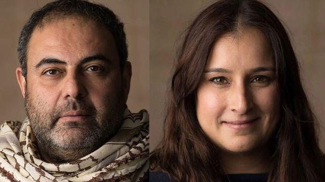 Les réalisateurs Anas Khalaf et Rana Kazkaz. [Tipi Images]