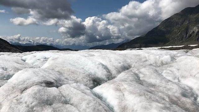 Glacier Aletsh. [Cécile Guerin - RTS]