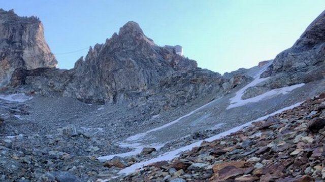 Glacier de Bertol. [Cécile Guerin - RTS]