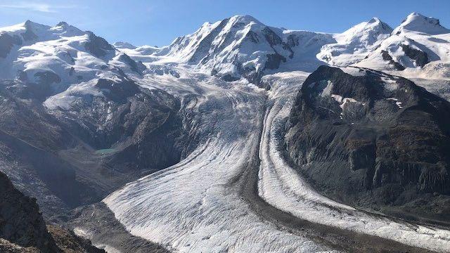 Glacier Gornergletscher. [Cécile Guerin - RTS]