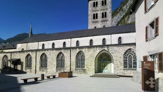 Basilique de l'abbaye de Saint-Maurice. [Olivier Maire - Keystone]