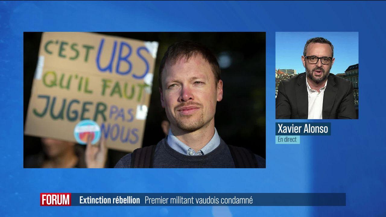 Extinction Rebellion: premier militant vaudois condamné (vidéo) [RTS]