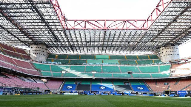Les travées vides du stade Giuseppe Meazza ont précipité le déficit de l'Inter Milan. [Imago - Fabrizio Carabelli - SRI]