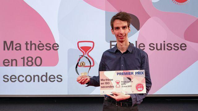 Yohann Thenaisie, lauréat suisse de MT180 2021. Alain Herzog/MT180 EPFL [Alain Herzog/MT180 - EPFL]