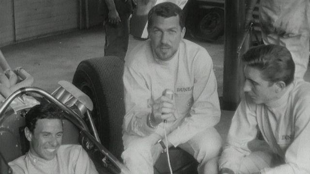 Jo Siffert et Jim Clark en 1965. [RTS]