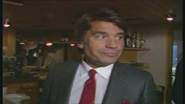 Bernard Tapie à Genève en 1985 [RTS]