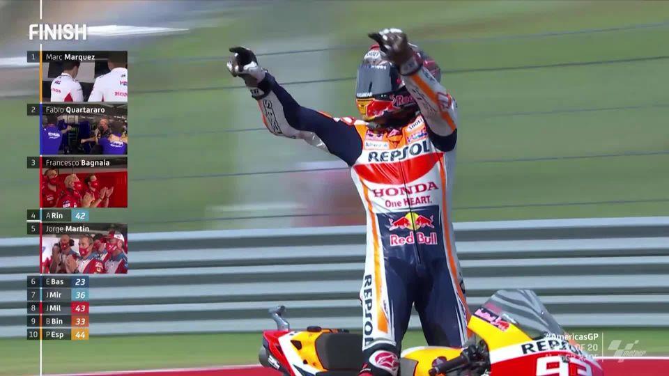 GP des Amériques, MotoGP: Marc Marquez (ESP) gagne devant Quartararo (FRA) 2e et Bagnaia (ITA) 3e [RTS]